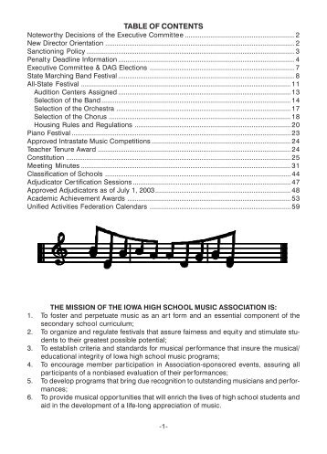 Fall Bulletin No. 225 - August 2004 - The Iowa High School Music ...