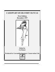 Cassowary Husbandry Manual ARAZPA - Australasian Zoo Keeping
