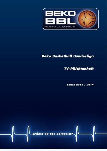 Beko BBL-TV Pflichtenheft 2013-2014 - Beko Basketball Bundesliga