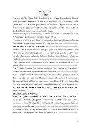 . 1 ACTA Nº 14/10 09-07-10 Aos nove dias do mês de Julho de dois ...