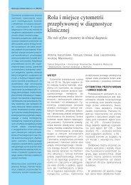 Rola i miejsce cytometrii przep³ywowej w diagnostyce klinicznej