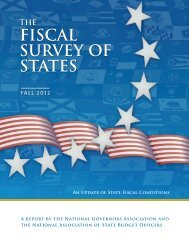 fiscal survey of states - National Association of State Budget Officers