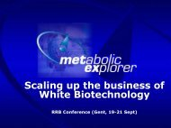 Scaling up the business of White Biotechnology - RRB Conference