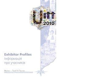 Exhibitor Profiles Iнформацiя про учасникiв - UITT
