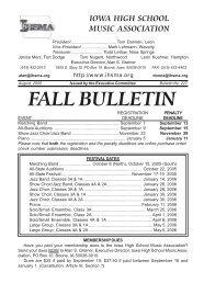 Fall Bulletin No. 227 - August 2005 - The Iowa High School Music ...