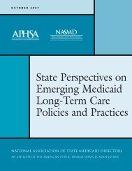 State Perspectives on Emerging Medicaid Long-Term Care Policies ...