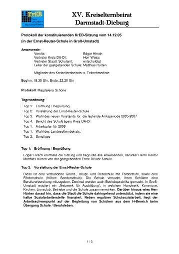 XV. Kreiselternbeirat XV. Kreiselternbeirat ... - Aktuelle Themen
