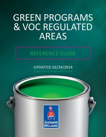 GREEN PROGRAMS & VOC REGULATED AREAS - Sherwin-Williams