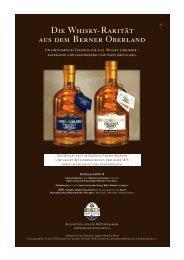 Die Whisky-Rarität aus dem Berner Oberland - Premium Blog