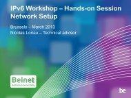 IPv6 - Belnet - Events