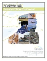 Transportation Equipment Cluster - Buffalo Niagara Enterprise