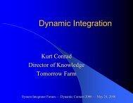 Dynamic Integration - The Sagebrush Group