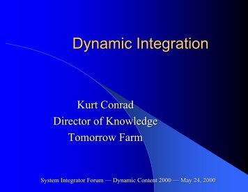 Dynamic Integration - The Sagebrush Group