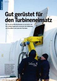 Gut gerüstet für den Turbineneinsatz - Deutsche Windtechnik