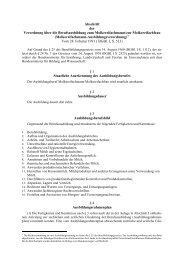 Verordnung über die Berufsausbildung zum Molkereifachmann/ zur ...
