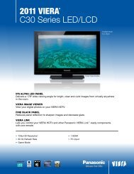 2011 Viera® C30 Series LED/LCD - Panasonic
