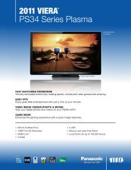 2011 Viera® PS34 Series Plasma - Panasonic