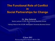 The Functional Role of Conflict in Social ... - Partnership 2012