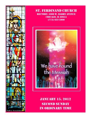 st. ferdinand church january 15. 2012 second sunday in ordinary time