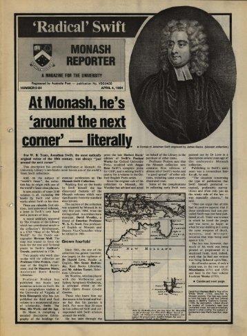 At Monash, he's 'around the next corner' literally' - Adm.monash.edu ...