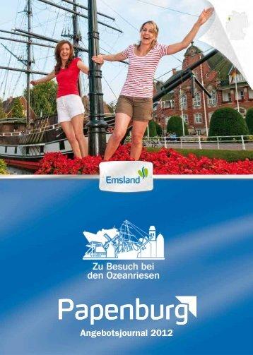 Angebotsjournal 2012 Inhalt - Papenburg Tourismus