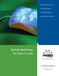 Mobile Marketing: The New Frontier - TourismTechnology.com