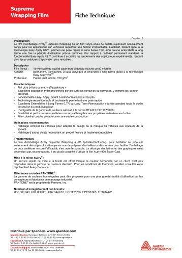 AveryR Supreme Wrapping Film PDF