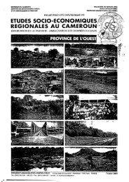 ETUDES SOCIO.ECONOMIQUES REGIONATES AU CAMEROUN