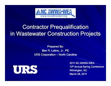 Contractor Prequalification in Wastewater Construction Projects