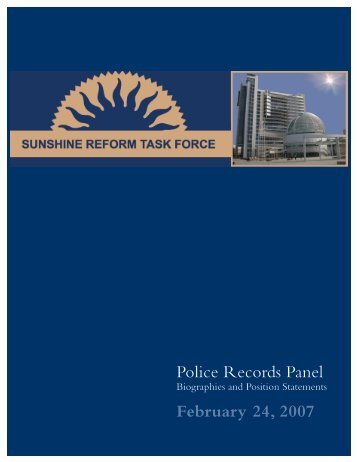 Police Records Panel February 24, 2007 - City of San Jose