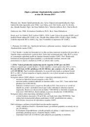 Zápis ze dne 20.3.2013 - Janáčkova akademie múzických umění v ...