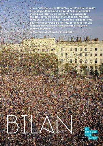 Bilan 2012 - La Biennale de Lyon