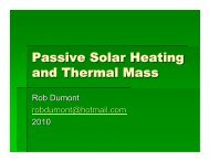 Passive Solar Heating and Thermal Mass