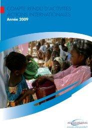 Compte-rendu d'activités international 2009 - Agence de l'eau Artois ...
