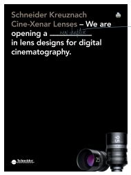 Schneider-Kreuznach Cine-Xenar Lenses for MPTV