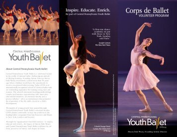 Corps de Ballet Volunteer Program Brochure - Central Pennsylvania ...