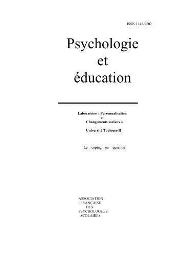 Psychologie et éducation - Pierre TAP