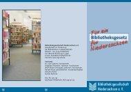Flyer Bibliotheksgesetz - Bibliotheksgesellschaft Celle