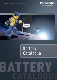 Battery Catalogue - Panasonic Batteries