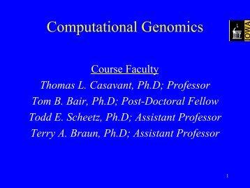 Computational Genomics - ExPASy Home page