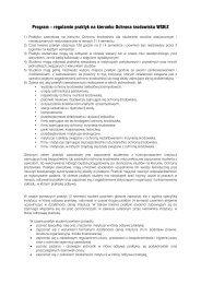 Program – regulamin praktyk na kierunku Ochrona środowiska WSKiZ