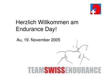Endurance Day 19.11.05_27.11.05 - bei swissendurance.ch!
