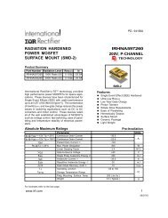 radiation hardened irhna597260 power mosfet surface mount (smd-2)