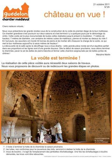 """Château en vue !"" N°25 (PDF - 537 Ko) - Guédelon"