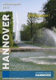 Reisemagazin 2012 - Tourismus Region Hannover eV