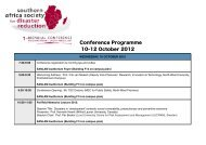 Conference Programme 10-12 October 2012 - African Centre for ...