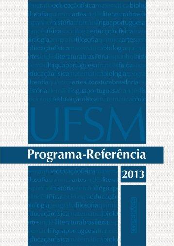 Programa-Referência 2013 - Coperves - UFSM