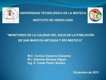 Monitoreo de la calidad del agua en San Marcos Arteaga y río ...