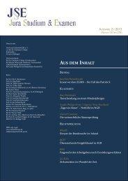 (JSE) 2013 - Zeitschrift Jura Studium & Examen