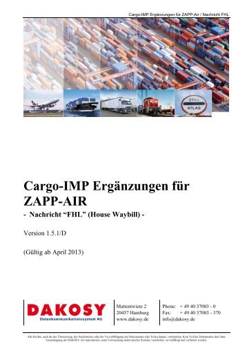 ZAPP-Air - FHL - DAKOSY Datenkommunikationssystem AG